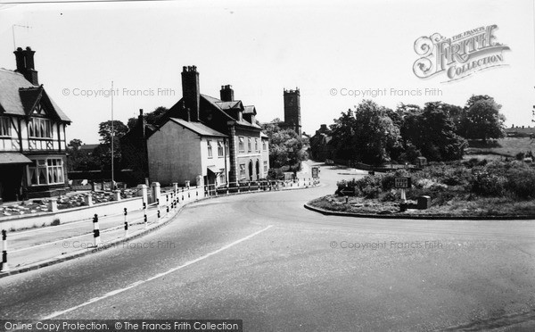 Photo of Whitchurch, The Roundabout, Tarporley Road c.1960