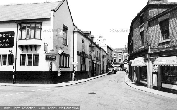 Photo of Whitchurch, The Swan Hotel And Watergate c.1960