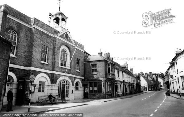 Photo of Whitchurch, Town Hall And Bank c.1960