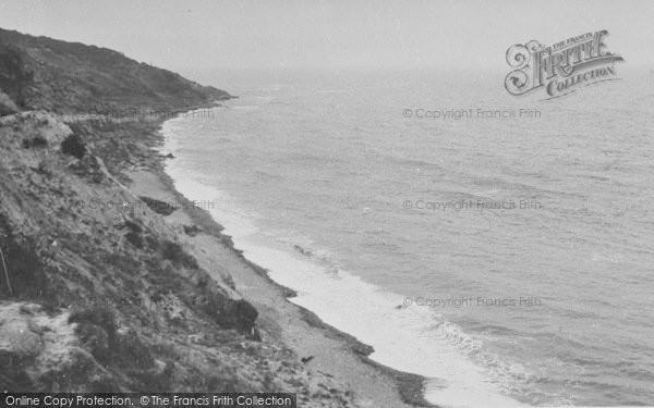 Photo of White Cliff Bay, View From The Cliffs c.1960