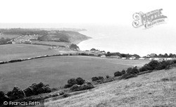 White Cliff Bay, View From The Downs c.1960