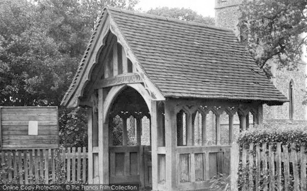 Photo of White Colne, Lychgate, Parish Church c.1955