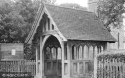 White Colne, Lychgate, Parish Church c.1955