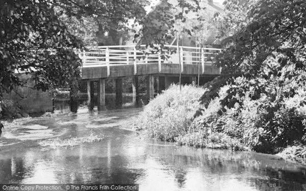 Photo of White Colne, River Colne c.1955
