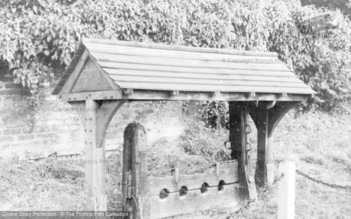 Photo of White Waltham, The Village Stocks c.1955