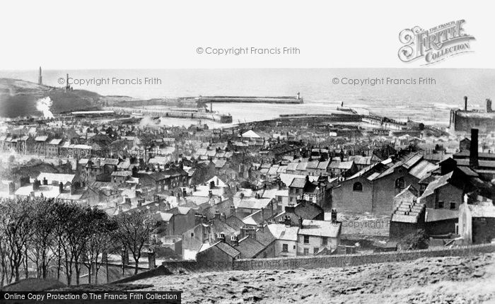 Photo of Whitehaven, Harbour and Town 1950, ref. W313014
