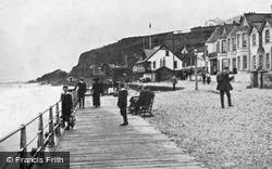 Whitehead, Esplanade And Yacht Club House c.1900