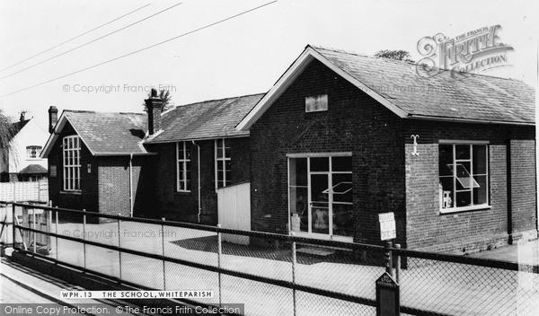 Photo of Whiteparish, The School c.1955