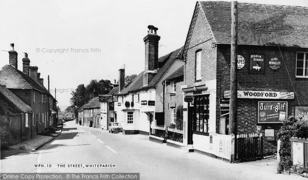 Photo of Whiteparish, The Street c.1955