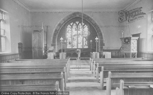 Photo of Whitewell, The Church Interior 1921