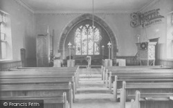 Whitewell, The Church Interior 1921