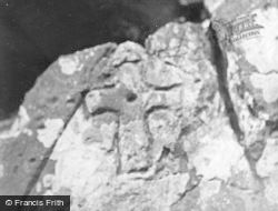 Whithorn, St Ninian's Cave At Physgyll - Incised Cross 1958