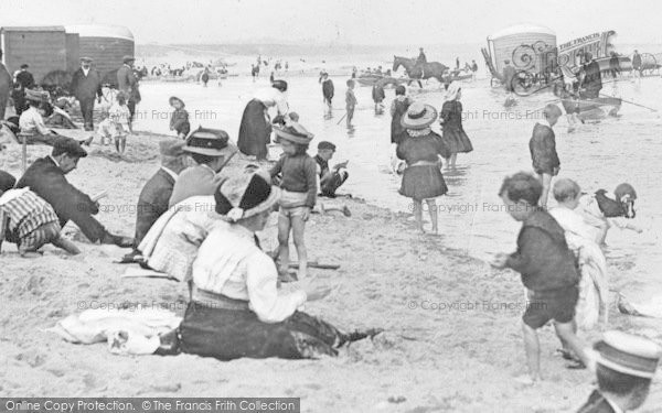 Photo of Whitley Bay, People On The Beach c.1910