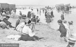 Whitley Bay, People On The Beach c.1910