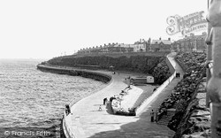 Whitley Bay, South Lower Promenade c.1955