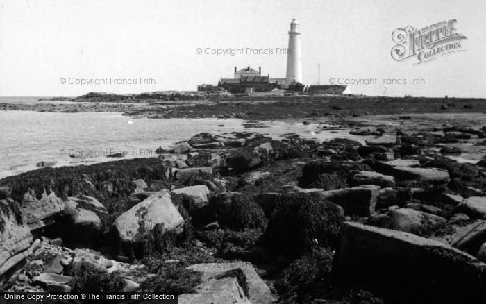 Photo of Whitley Bay, St Mary's Island And Lighthouse 1960