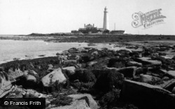 Whitley Bay, St Mary's Island And Lighthouse 1960