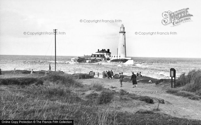 Photo of Whitley Bay, St Mary's Island And Lighthouse c.1955