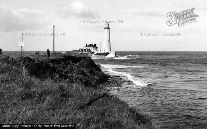Photo of Whitley Bay, St Mary's Lighthouse c.1955