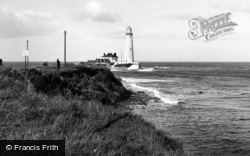 Whitley Bay, St Mary's Lighthouse c.1955
