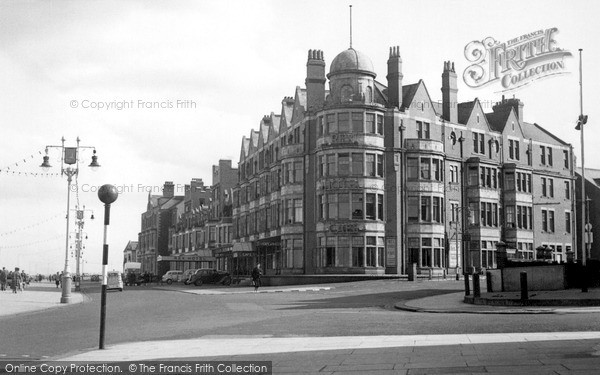 Photo of Whitley Bay, The Rex Hotel And Promenade c.1955