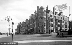 Whitley Bay, The Rex Hotel And Promenade c.1955