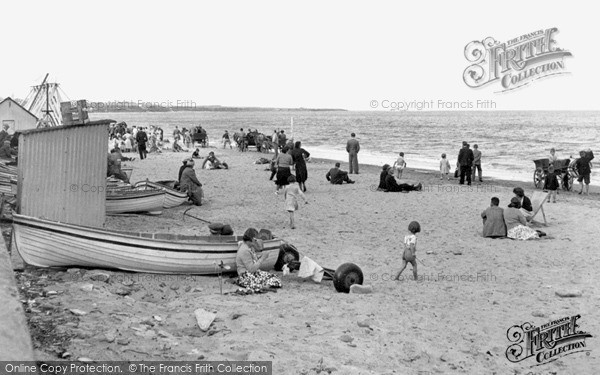 Photo of Whitley Bay, The Sands c.1955
