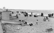 Whitley Bay, the Sands c1955