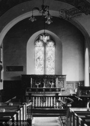 Whitney, Church Of St Peter And St Paul, Interior c.1950, Whitney-on-Wye
