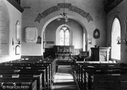 Whitney, The Church Interior c.1950, Whitney-on-Wye