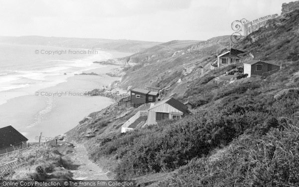 Photo of Whitsand Bay, Path Down To The Beach c.1955