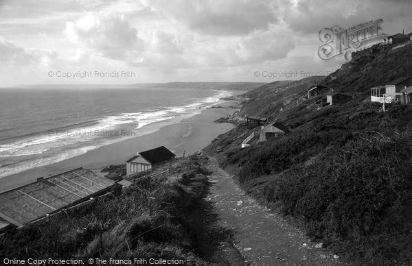 Photo of Whitsand Bay, The Cliff Path And Beach c.1955