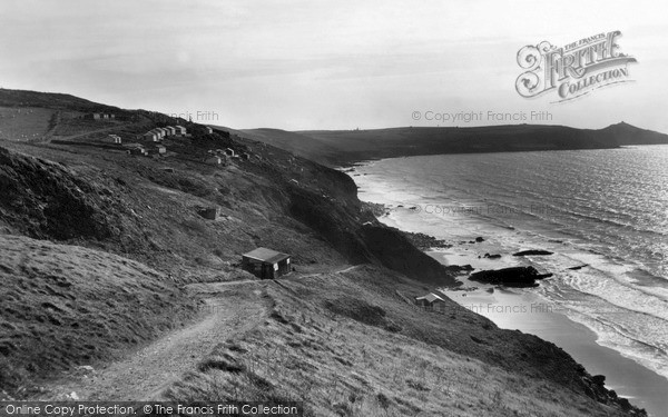 Photo of Whitsand Bay, Rame Head c1955, ref. w91002