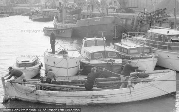 Photo of Whitstable, Boats At The Docks 1962