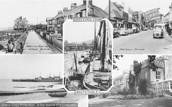 Photo of Whitstable, Composite c.1960