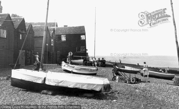 Photo of Whitstable, The Beach 1950