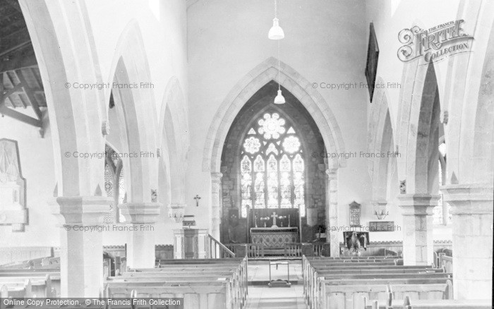 Photo of Whittingham, St Bartholomew's Church Interior c.1955