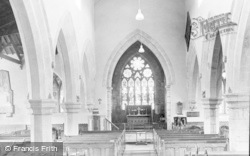 Whittingham, St Bartholomew's Church Interior c.1955