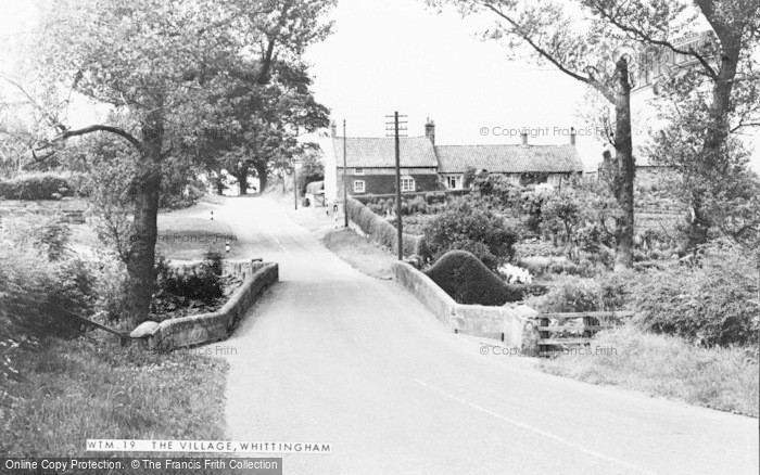 Photo of Whittingham, The Village c.1955