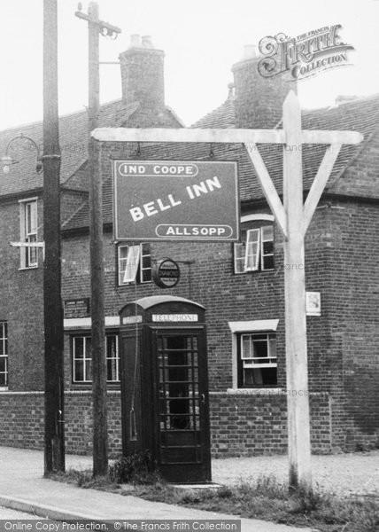 Photo of Whittington, Bell Inn c.1955