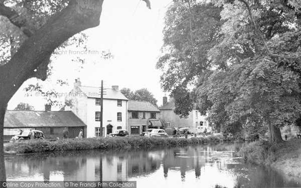 Photo of Whittington, Castle Moat c.1955