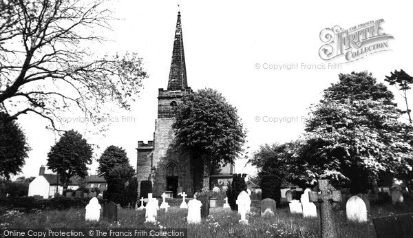 Photo of Whittington, Church Of St Giles c.1965