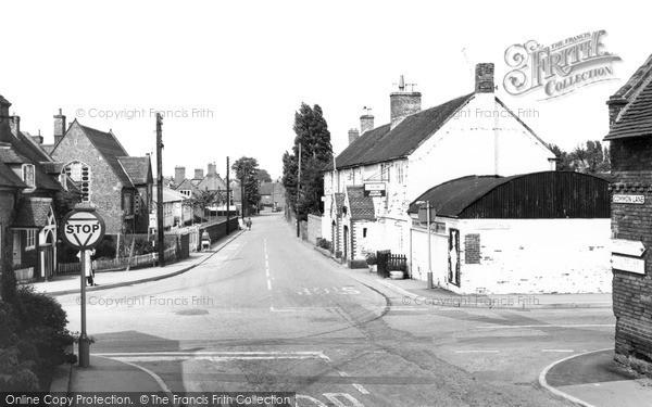 Photo of Whittington, Main Street And Dog Inn c.1965