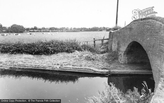 Photo of Whittington, Peel Bridge And Canal c.1955