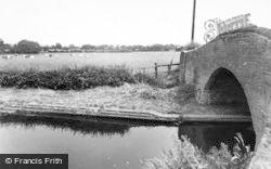 Peel Bridge And Canal c.1955, Whittington