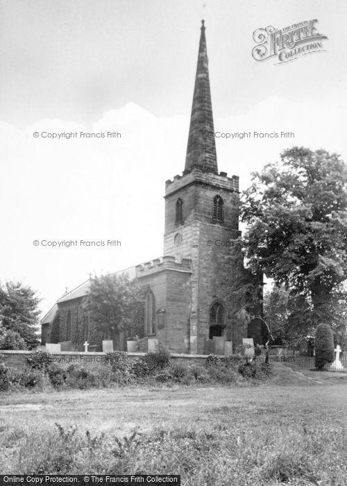 Photo of Whittington, St Giles Church c.1955