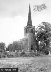 St Giles Church c.1955, Whittington