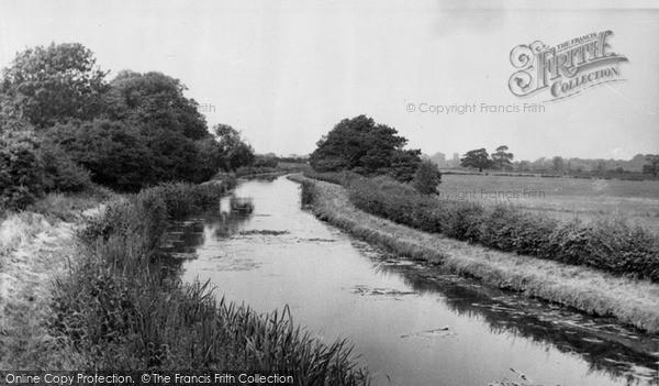 Photo of Whittington, The Canal c.1955