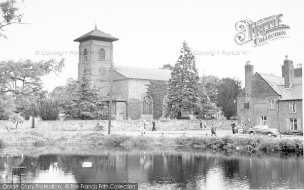 Photo of Whittington, The Church c.1955