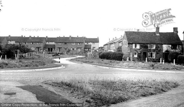 Photo of Whittington, The Crescent From The Green c.1955